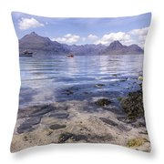 Cuillin Mountains From Elgol Throw Pillow