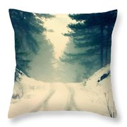D J Landscape Throw Pillow