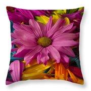 Daisies Petals Throw Pillow