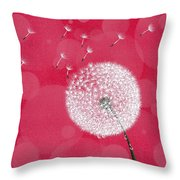 Dandelion Flying Throw Pillow