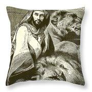 Daniel In The Lions Den Throw Pillow