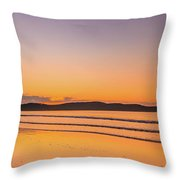 Dawn Seascape With Clouds Throw Pillow