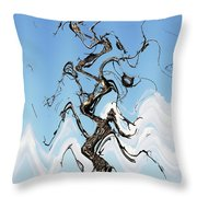 Dead Pine Tree Abstract Throw Pillow
