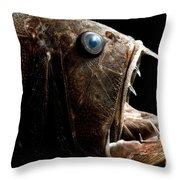 Deep Sea Fangtooth Throw Pillow