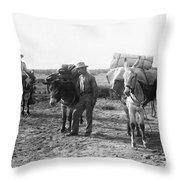 3 Desert Prospectors C. 1900 Throw Pillow