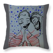 Dinka Marriage  South Sudan Throw Pillow