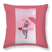 Does She Love Me Or Not? Throw Pillow