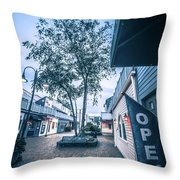 Downtown Of Newport Rhode Island At Dusk Hours Throw Pillow