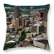 Downtown San Antonio Throw Pillow