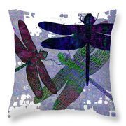 3 Dragonfly Throw Pillow