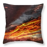 Dramatic Skies Great Smoky Mountains Nc At Sunset In Winter Throw Pillow