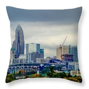 Dramatic Sky And Clouds Over Charlotte North Carolina Throw Pillow