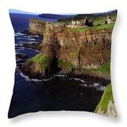 Dunluce Castle, Co. Antrim, Ireland Throw Pillow