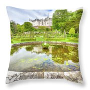 Dunrobin Castle Reflected Throw Pillow
