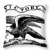 Eagle, 19th Century Throw Pillow