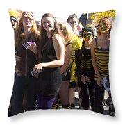 Emma Crawford Coffin Races In Manitou Springs Colorado Throw Pillow