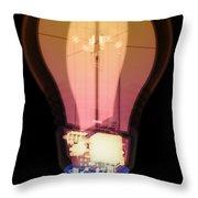 Energy Efficient Led Light, X-ray Throw Pillow
