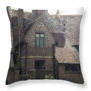 English Cottage Throw Pillow