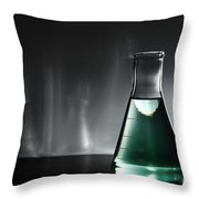 Equipment In Science Research Lab Throw Pillow