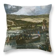 Erie Canal Opening, 1825 Throw Pillow