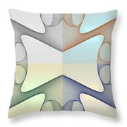 F S - Foursome Shapeallization Throw Pillow