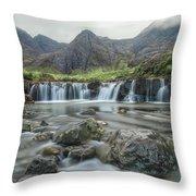 Fairy Pools - Isle Of Skye Throw Pillow