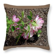3 Fallen Roses Throw Pillow