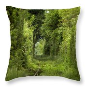 Famous Tunnel Of Love Location Throw Pillow