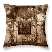 3 Fans And Vines Throw Pillow
