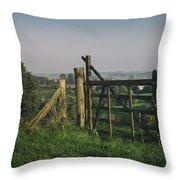 Farm Fields In Belgium Throw Pillow