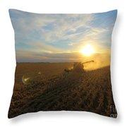 Farming Throw Pillow