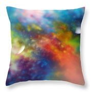 Farther Worlds Throw Pillow