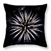 Firework Colors Throw Pillow