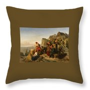 Fisher Families On The Coast Throw Pillow