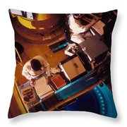Flamanville Nuclear Power Plant Throw Pillow