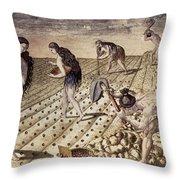 Florida Native Americans, 1591 Throw Pillow