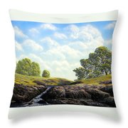Flowering Meadow Throw Pillow