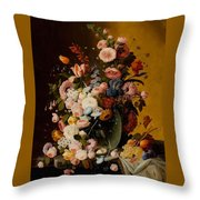 Flowers In A Glass Pitcher Throw Pillow