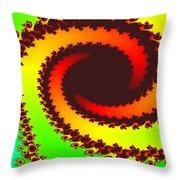 Fractal Floral Pattern Throw Pillow