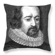 Francis Bacon, English Polymath Throw Pillow
