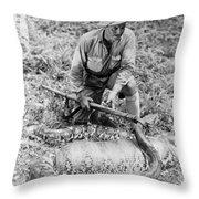 Frank Buck (1884-1950) Throw Pillow