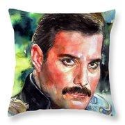 Freddie Mercury Portrait Throw Pillow