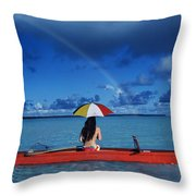 French Polynesia, Tetiaro Throw Pillow
