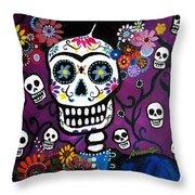 Frida Dia De Los Muertos Throw Pillow