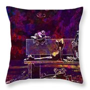Frogs Yoga Bank Bench Relaxed  Throw Pillow