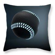 Futuristic Neon Sports Ball Throw Pillow