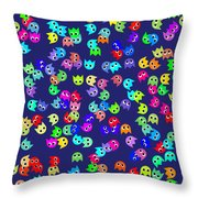 Game Monsters Seamless Generated Pattern Throw Pillow