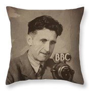 George Orwell 1 Throw Pillow