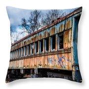 Ghost Train Throw Pillow