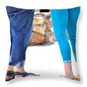 Girlfriends. Throw Pillow